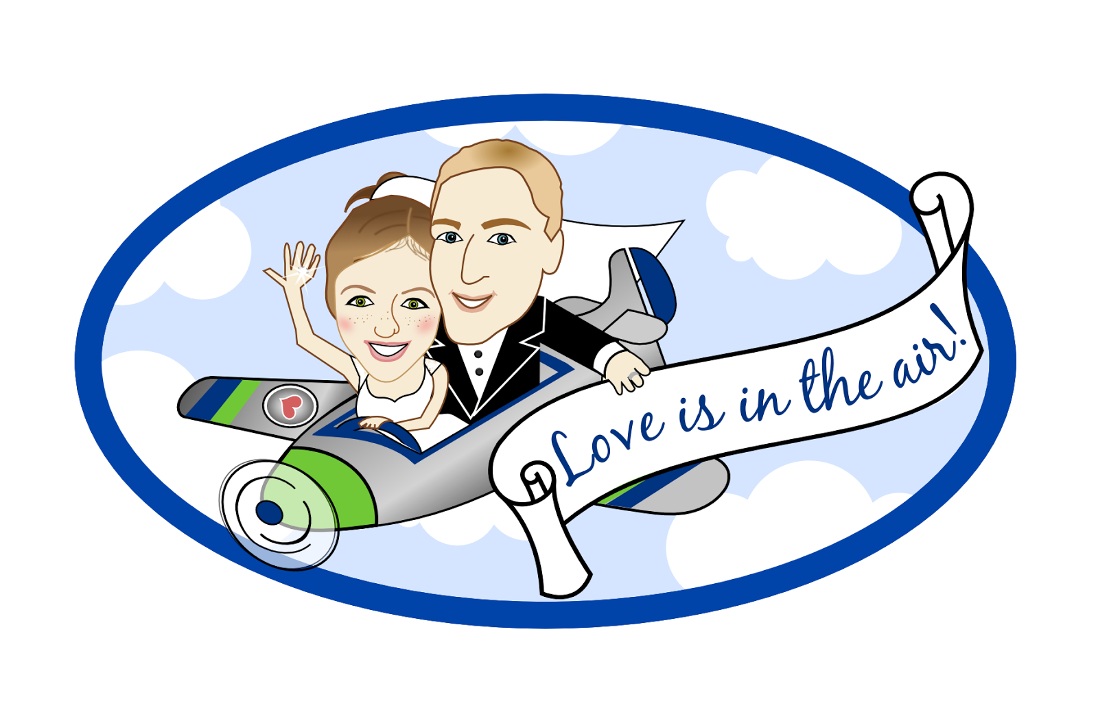 Wedding clipart plane Clipart Banner With Real
