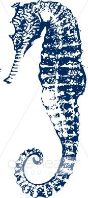 Seahorse clipart elegant #1
