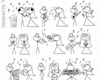 Wedding clipart stick figure By family Stick Figure People