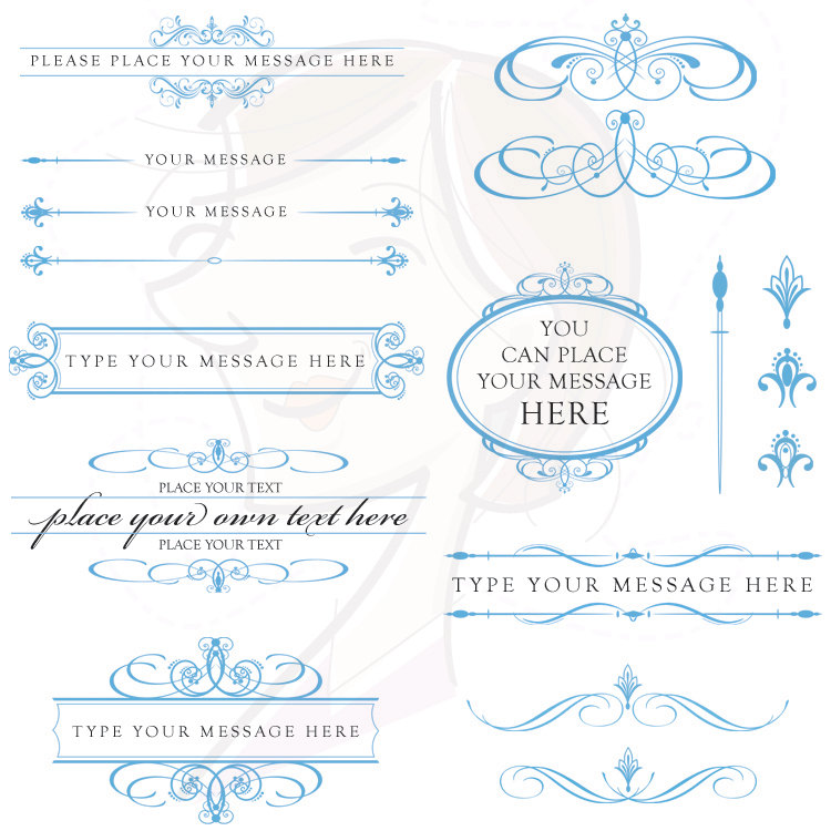 Wedding clipart text DIY Vintage Clipart Calligraphy Art