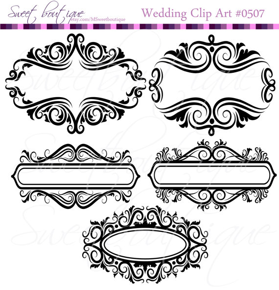 Decoration clipart classic Tag Flourish MSweetboutique Frame Label