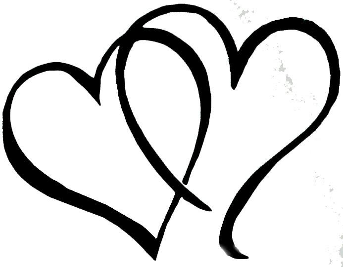 Hearts clipart double heart Heart  tied Clipart hearts: