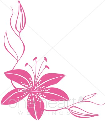 Wedding clipart watermark Lily Pink Flower Clipart Clipart
