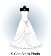 Wedding Dress clipart vector free download Vectorsby  clip EPS EPS