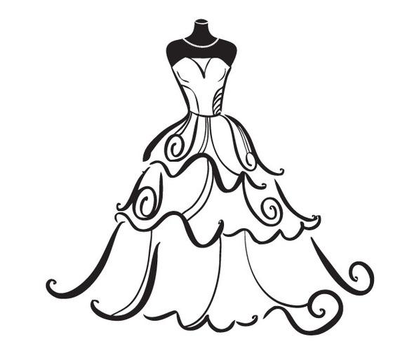 Wedding Dress clipart Clipart Art Dress Wedding –