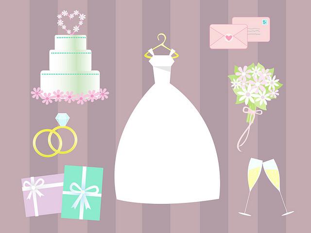 Wedding Dress clipart bridal shower Wedding clipart Shower Clipartion border