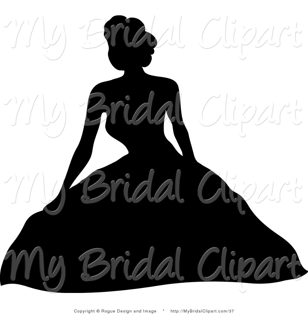 Wedding Dress clipart debutante Black Wedding Designs Gown Puffy