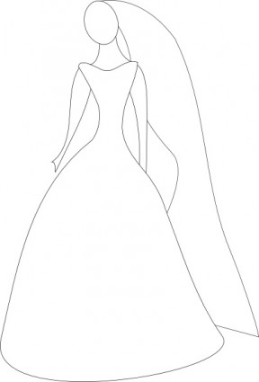 Wedding Dress clipart dressed Clipart Bride Getting  Dressed