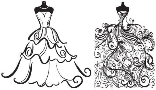 Wedding Dress clipart quinceanera dress Art wedding ocean bride wedding