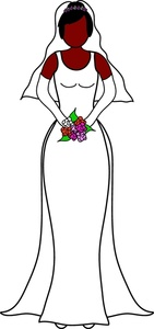 Wedding Dress clipart stand Her Clipart Bride Image: Hispanic