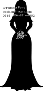 Wedding Dress clipart stand A Her a Image of