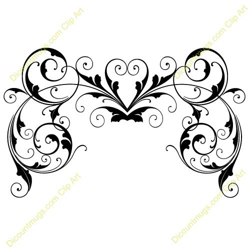 Wedding Dress clipart swirl Cliparts Bridal Flower Swirl Magnolia