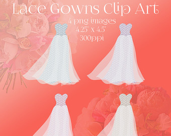 Wedding Dress clipart whimsical Art Art Lace Art Commercial