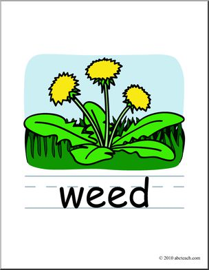 Weed clipart Words: Clip Art: Savoronmorehead Art