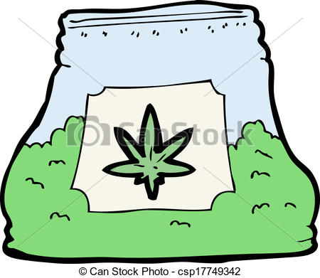 Weed clipart cartoon Cartoon bag of weed of