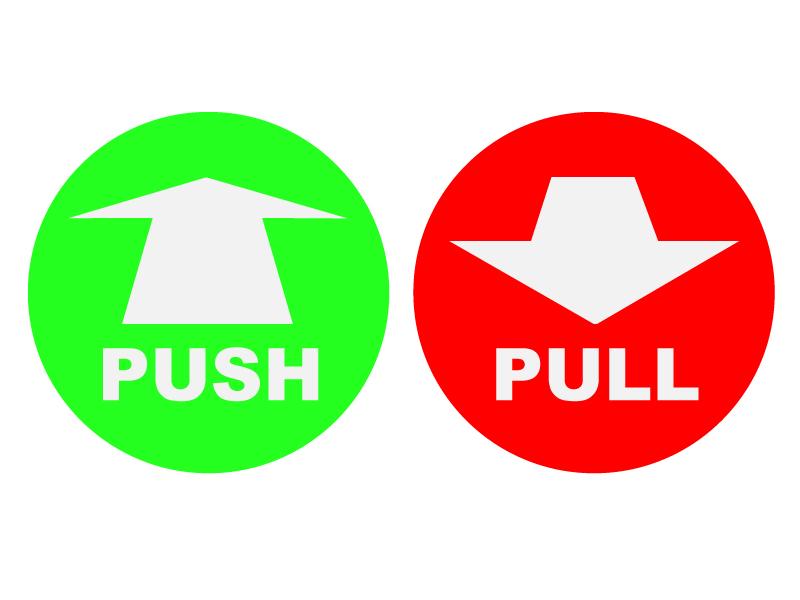 Weed clipart push pull Pull door Door (45+) Clipart