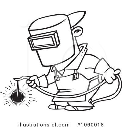 Welder clipart welding mask By (RF) toonaday toonaday #1060018