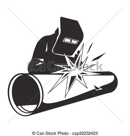 Welding clipart protective clothing Vector pipe  Vector Welder
