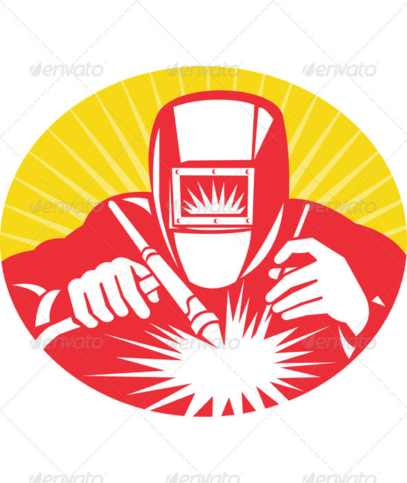 Welding clipart icon  At Retro Work Graphic