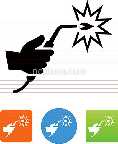 Welding clipart icon Torch Icon Icon Hand Illustration