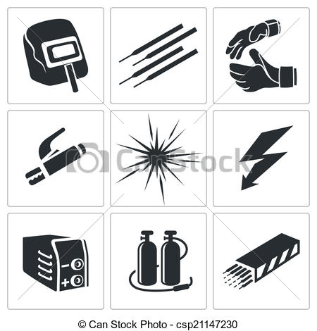 Welding clipart icon  collection Vectors Welding a