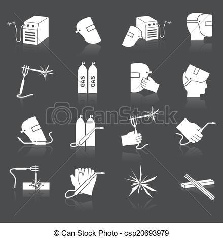 Welding clipart icon Icons Vectors set Vector Welder