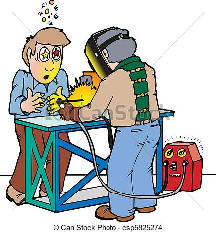 Welder clipart man Of blinded not A welder
