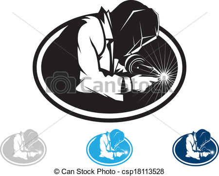 Welder clipart silhouette Welder Illustration a welding Welder