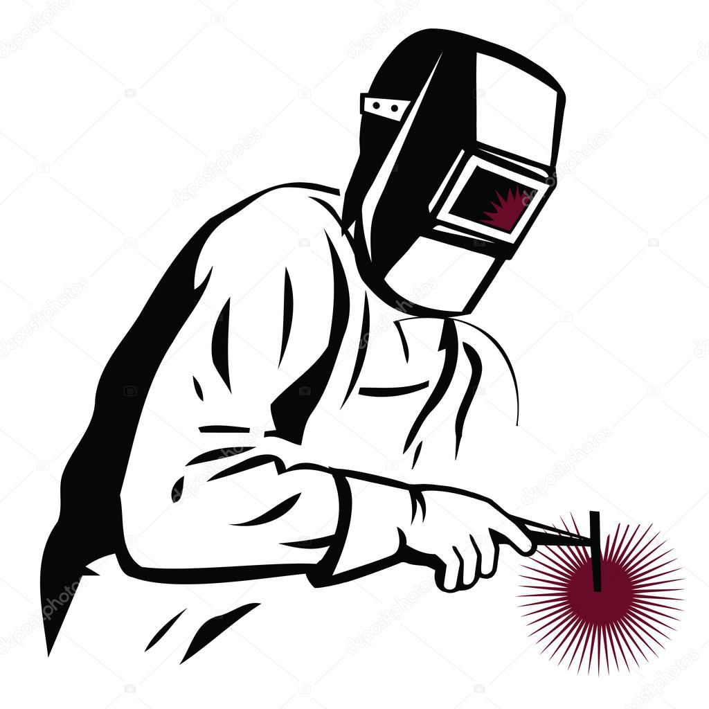 Welder clipart silhouette — — during #66048579 Vector