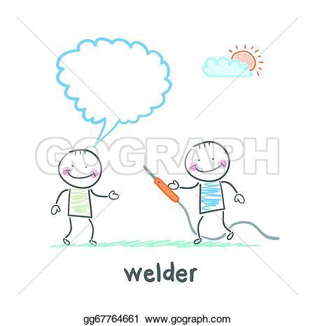 Welder clipart welding machine Says machine client Vector Vector