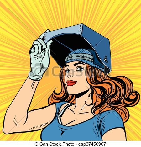 Welding clipart female Girl performing in of the
