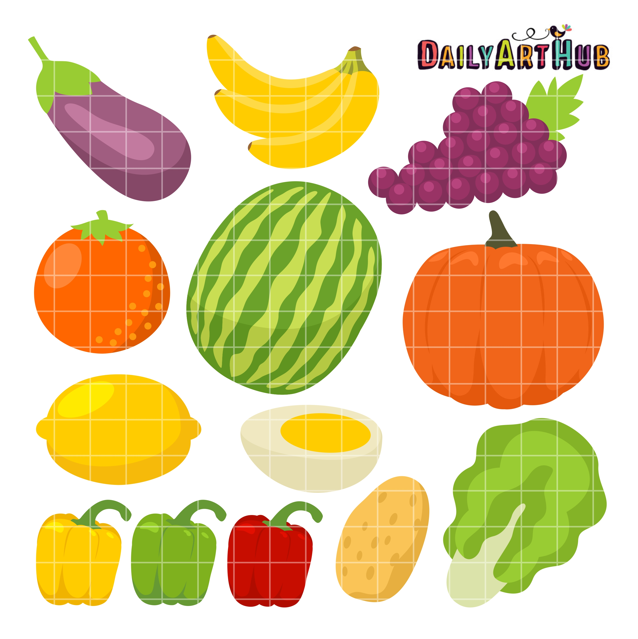 Grape clipart healthy food Pictures Set of food clipart