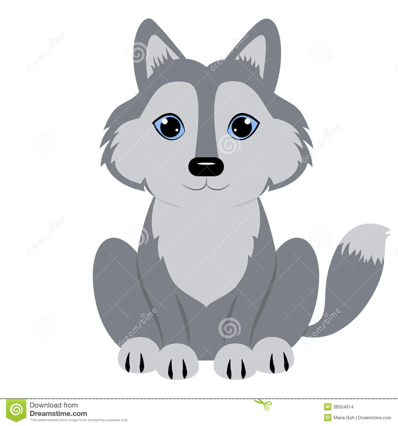 Werewolf clipart animated Gray Wolf collab Free Clipart