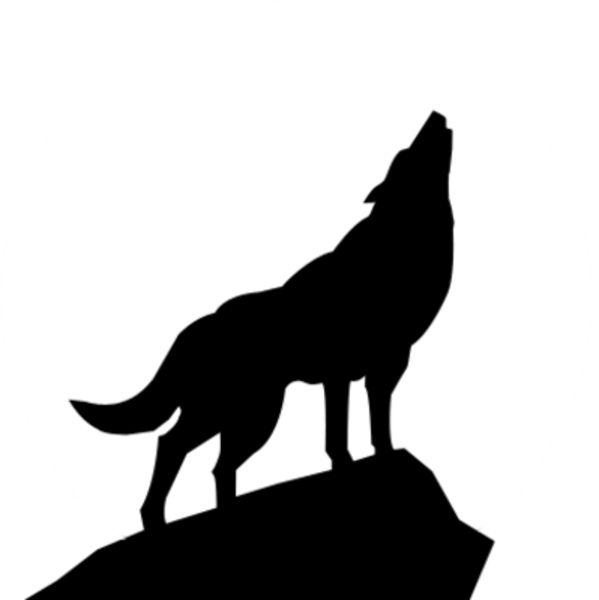 Wolf clipart stencil art Free art Pinterest Psd 25+