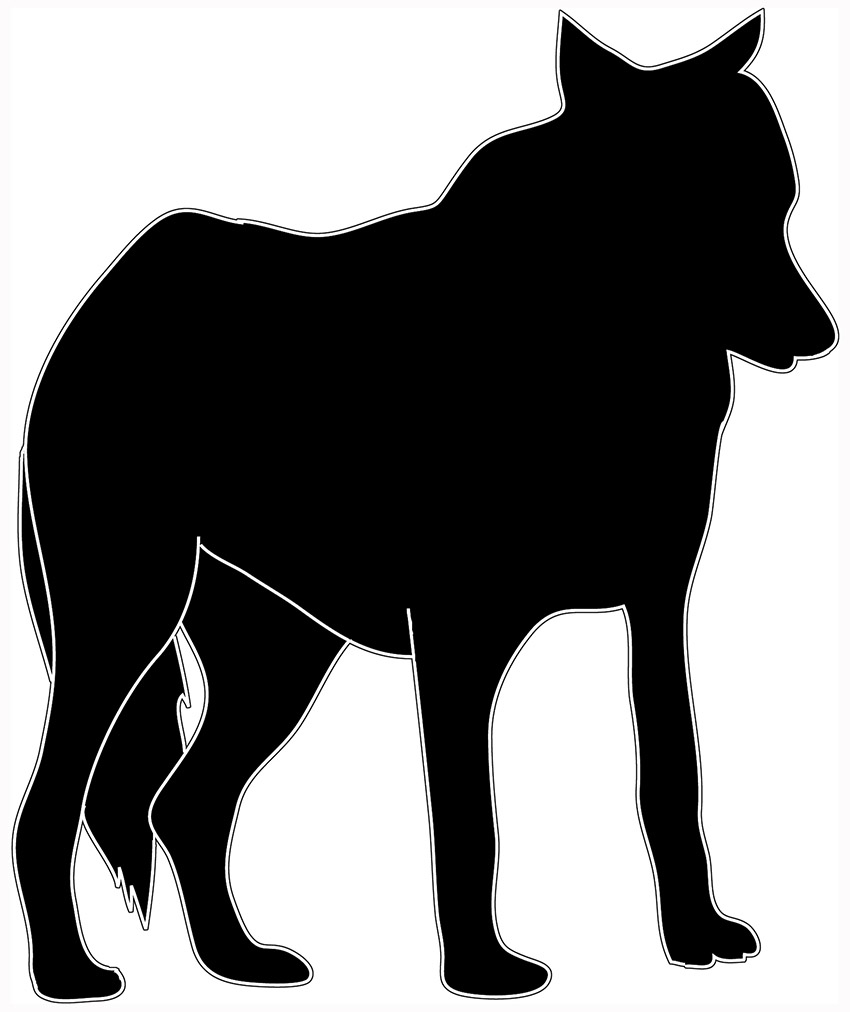 White Wolf clipart wolf silhouette #2
