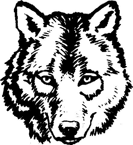 White Wolf clipart wolf head Pinterest ideas Knitting Best Sweater