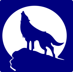 Wolf clipart purple To com Moon  vector