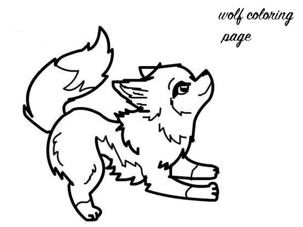 Arctic Wolf clipart color Http://coloringspace Baby pages com/baby Wolf