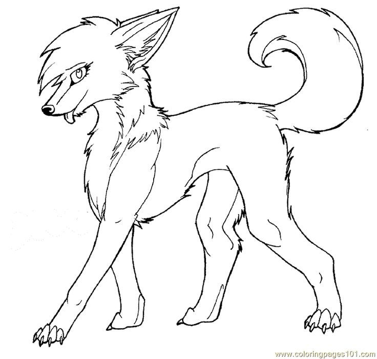 Werewolf clipart coloring Female net pages wolf free