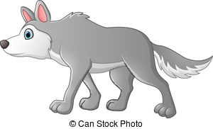Wolf clipart cute  wolf Free cartoon Clipart