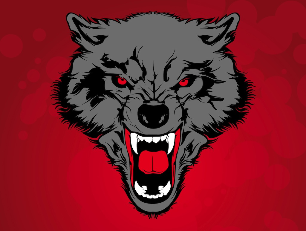 White Wolf clipart angry #11