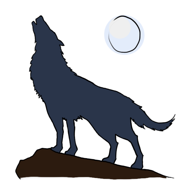 Drawn howling wolf puppy Howling kid clipart clipart kid