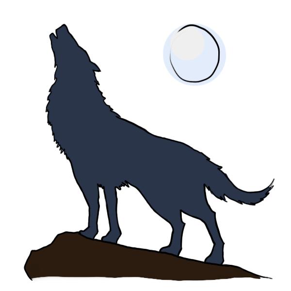 Drawn howling wolf tatoo Howling howling Wolf howling kid