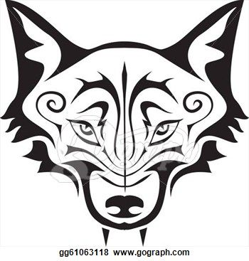 White Wolf clipart wolf face Wolf 25+ silhouette Best on