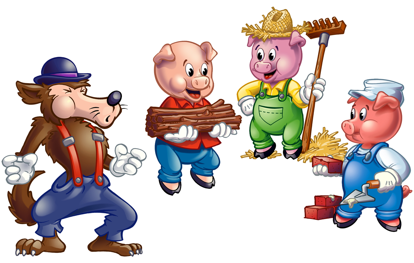 Pork clipart little pig Cliparts Clipart Wolf 3 Pigs