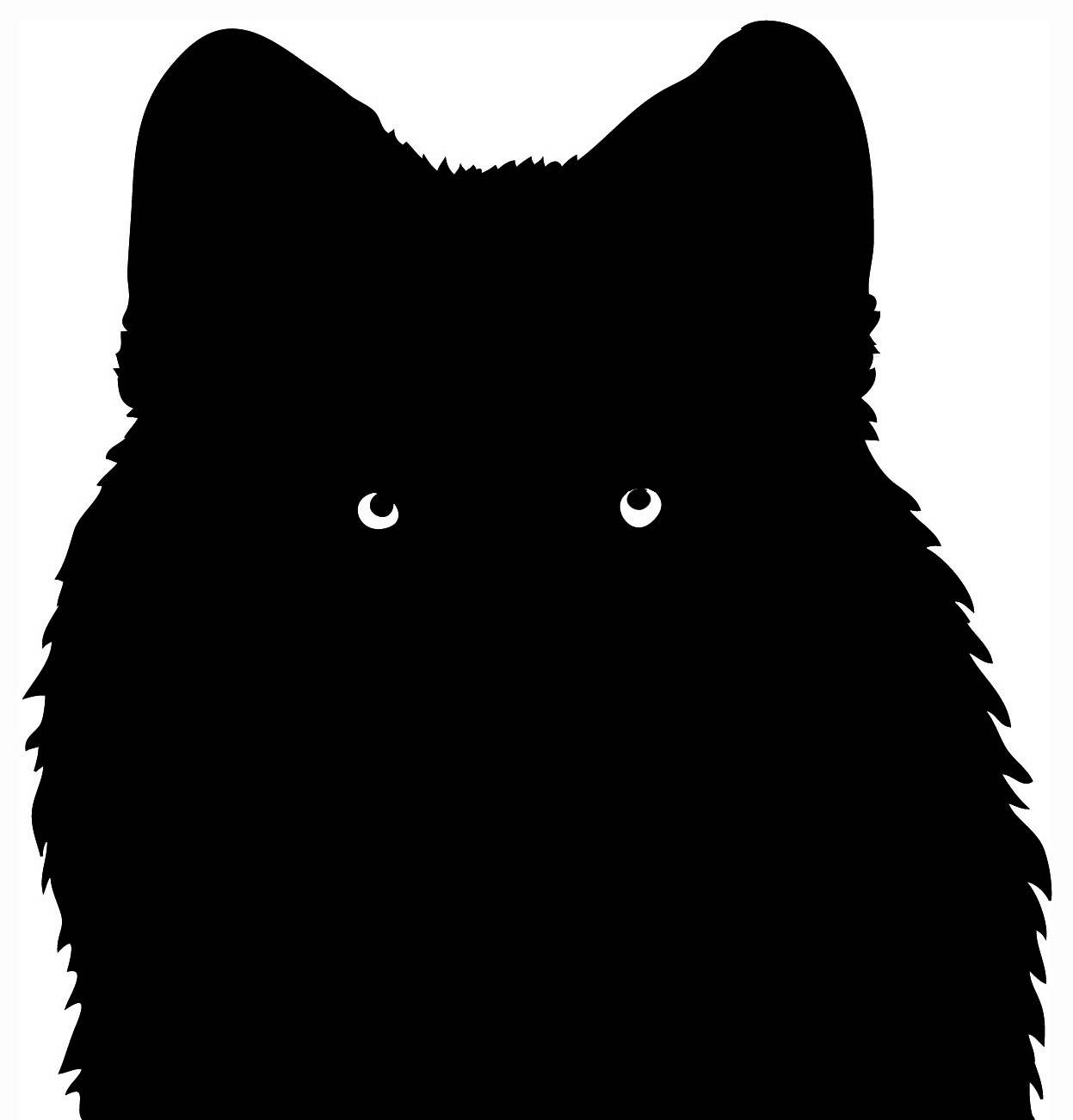 White Wolf clipart wolf silhouette #9