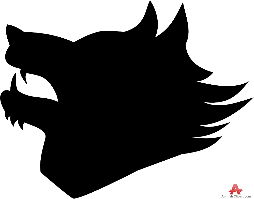 White Wolf clipart angry Head Wolf Sharp Silhouette Free