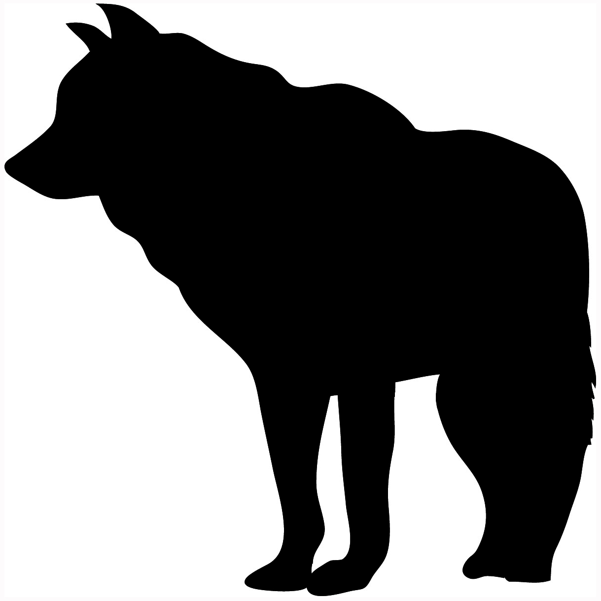 White Wolf clipart wolf silhouette #1