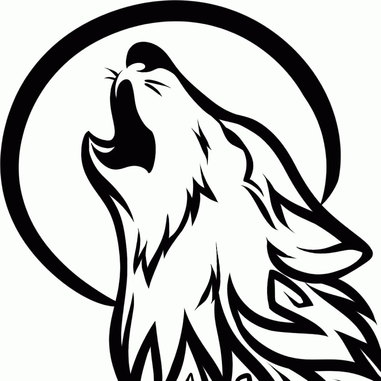 Wolf clipart drawn Howling Simple simple art Drawing