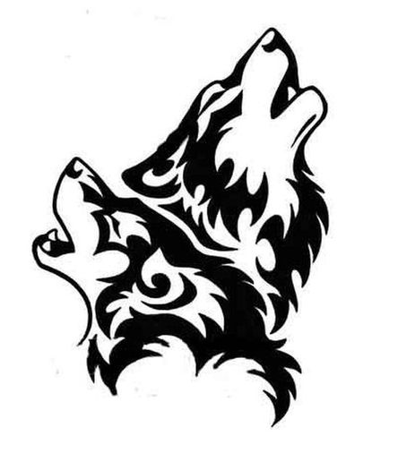 Drawn howling wolf tatoo Tattoo howling wolves Second howling